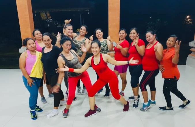 Aerobics in Bali